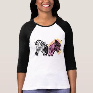 Raglan das senhoras da zebra t-shirt