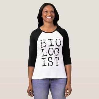 Raglan das senhoras do biólogo camiseta