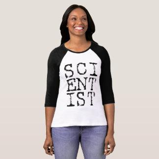 Raglan das senhoras do cientista camiseta