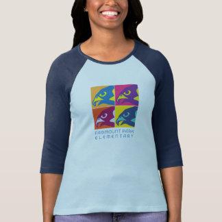 Raglan do pop art das mulheres t-shirt