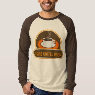Raglan engraçado legal do nome da cafetaria do camiseta