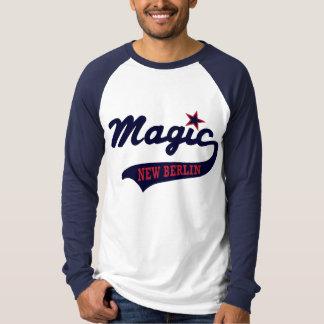 Raglan longo mágico da luva camiseta