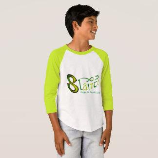 Raglan-T-Camisa irlandesa da luva da imagem Camiseta