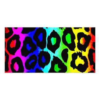 rainbow_leopard_print-altered cartão com foto