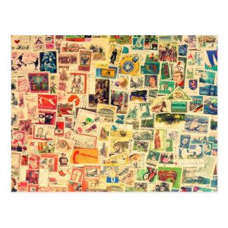 Rainbow Stamps Cartão Postal