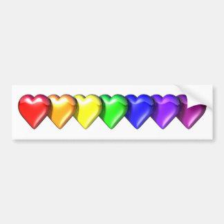 RainbowHearts Adesivo Para Carro