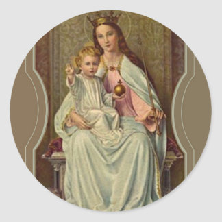 Rainha coroada do céu Jesus infantil que guardara Adesivo