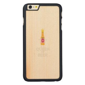 Rainha da cerveja Zh80k Capa Para iPhone 6 Plus De Bordo, Carved