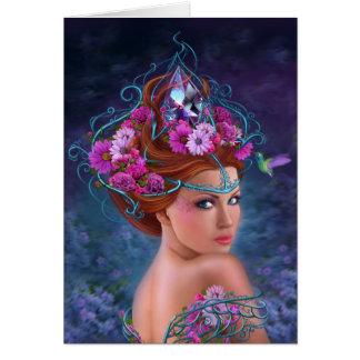 Rainha da flor do cartão