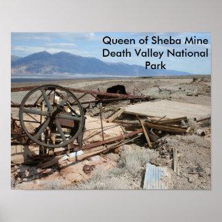 Rainha da mina de Sheba - parque nacional de Vale Pôster