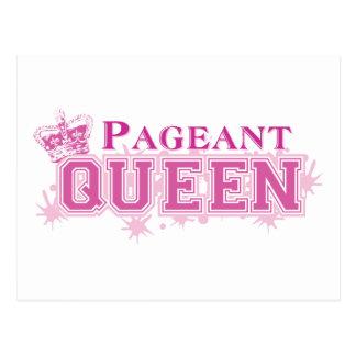 Rainha da representação histórica cartao postal