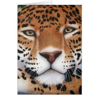 Rainha da selva - Jaguar Cartão Comemorativo