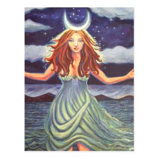 Rainha das marés - cartão da arte da deusa