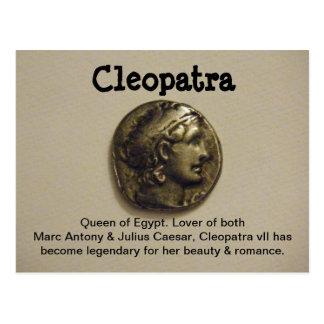 Rainha de Cleopatra do cartão de Egipto