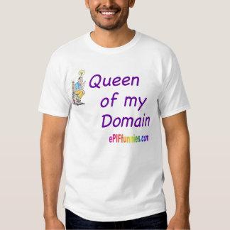 """""""Rainha de meu domínio """" Tshirts"""