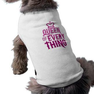 Rainha de tudo camisa sem mangas para cachorro