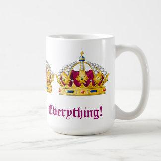 Rainha de tudo! caneca de café