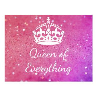 Rainha de tudo cartão cor-de-rosa de Bokeh da