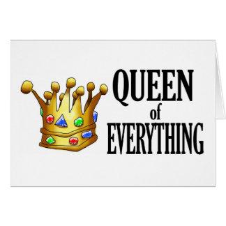 Rainha de tudo cartão de nota