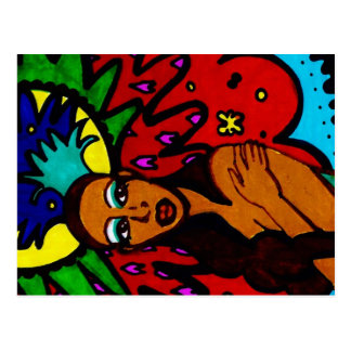 Rainha do carnaval cartão postal