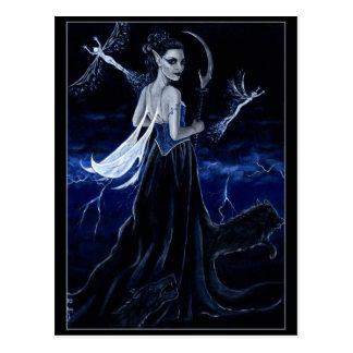 Rainha do cartão escuro da caça