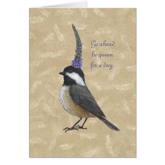 Rainha do Chickadee para um cartão do dia
