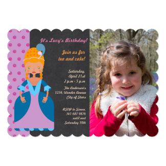 Rainha do convite da foto da festa de aniversário