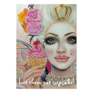 Rainha do cupcake de Marie Antoinette no rosa Cartão De Visita Grande