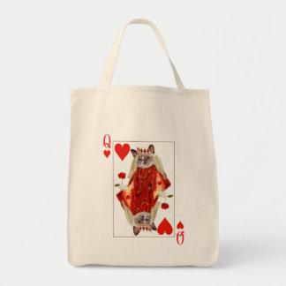 Rainha do gatinho do bolsa dos corações
