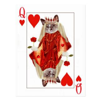 Rainha do gatinho do cartão dos corações