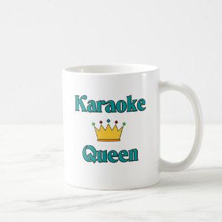 Rainha do karaoke caneca de café
