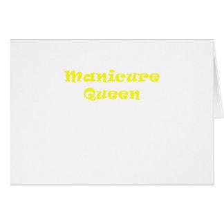 Rainha do Manicure Cartão Comemorativo