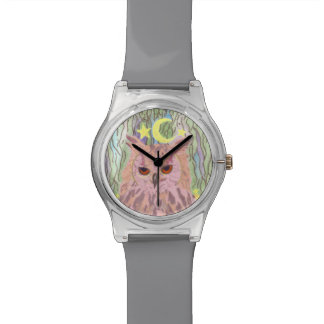 Rainha do relógio feminino da coruja May28th da