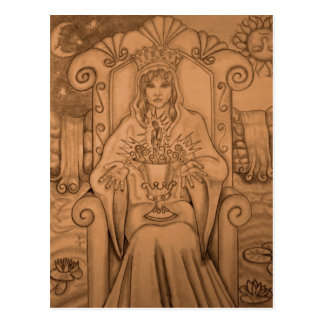Rainha dos copos - cartão de Tarot