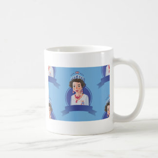 rainha elizabeth 2 caneca de café