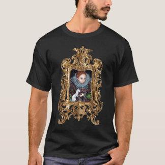 Rainha Elizabeth e uma camisa quadro arminho