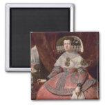 Rainha Maria Anna da espanha em um vestido vermelh Imãs De Refrigerador