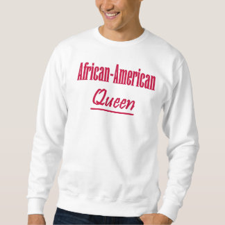 Rainha Sweetshirt do afro-americano Moletom