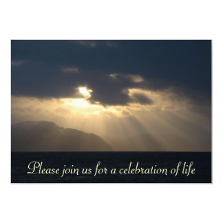 Raio do anúncio da cerimonia comemorativa da luz convite 12.7 x 17.78cm