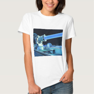 Raio laser retro do assassino de Sci Fi do kitsch T-shirts