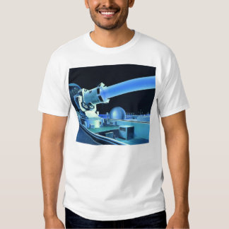 Raio laser retro do assassino de Sci Fi do kitsch Tshirts