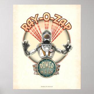 """Raio-O-Zap o poster retro do robô (16x20"""")"""