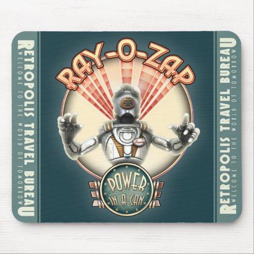 Raio-O-Zap o tapete do rato retro do robô Mousepads