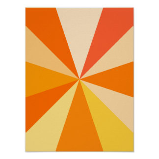 Raios 60s geométricos Funky modernos do pop art na Pôster