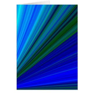 Raios azuis cartão comemorativo