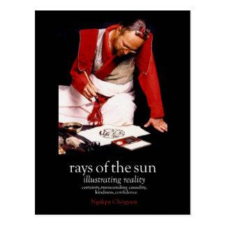 Raios da publicidade de Sun [cartão] Cartão Postal