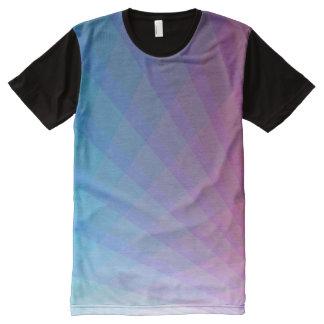 Raios laser que encontram-se no céu camisetas com impressão frontal completa