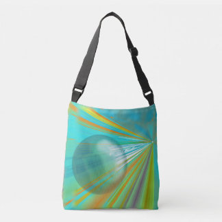 Raios no design do abstrato do planeta na turquesa bolsa ajustável