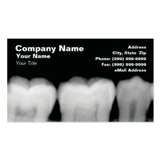 Raios X dos dentes Cartão De Visita