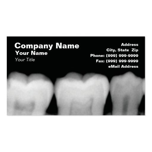 Raios X dos dentes Modelos Cartões De Visita